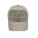 """Snipers"" Dad Hat (distressed khaki)"