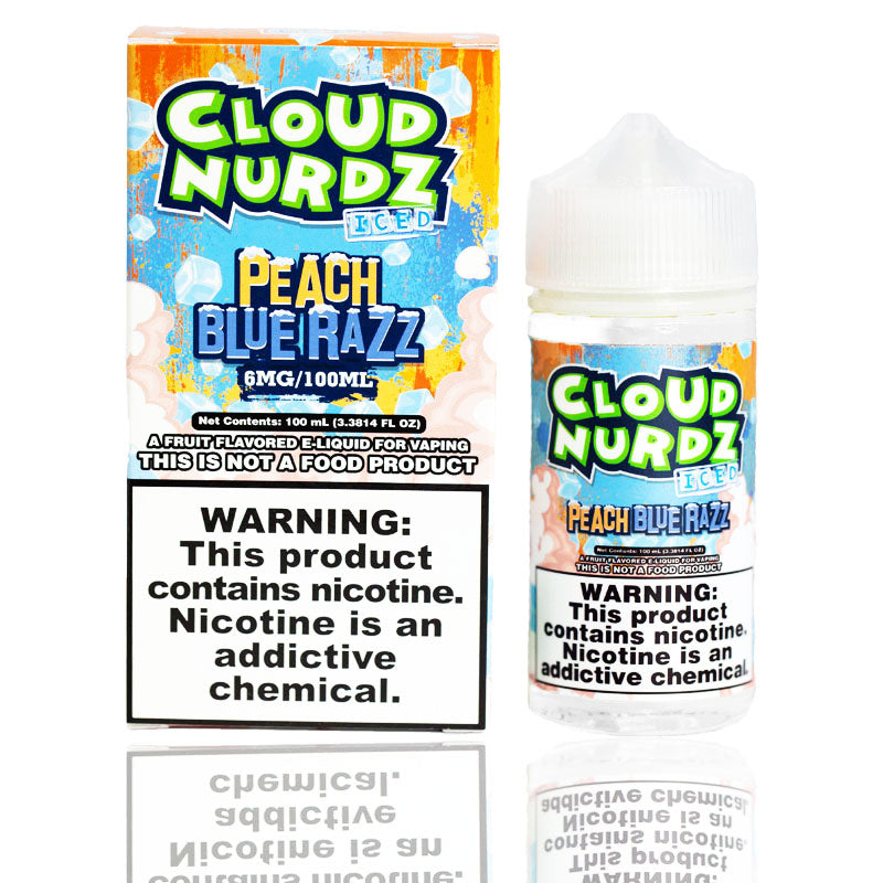 Cloud Nurdz Peach Blue Razz Iced