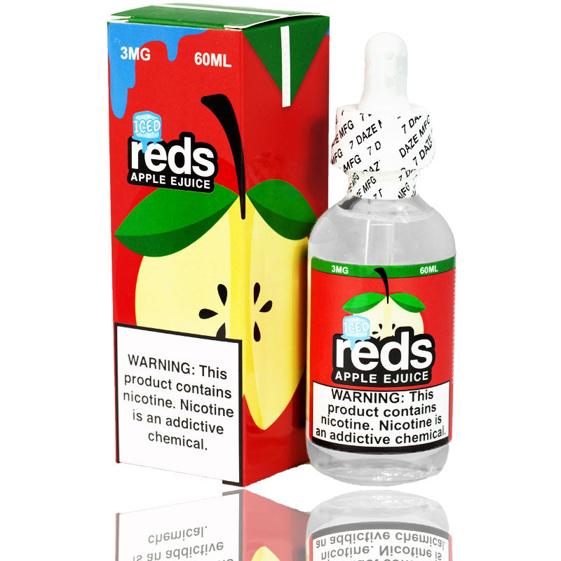 Reds Apple Iced eJuice by Vape 7 Daze 60mL | Vapor Boss