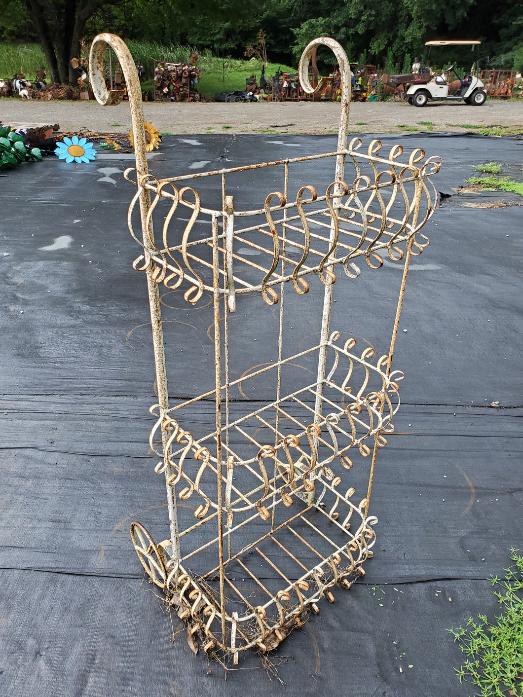 54inch high 3 tier basket cart