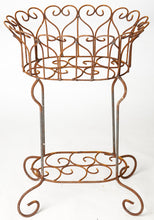 "29"" Wrought Helen Heart Plant Stand"