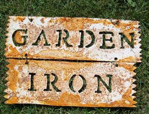 GARDEN IRON SIGN HANGING
