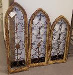 SET OF 3 GOTHIC WOODEN WINDOWS