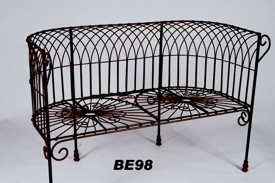 Pleasing Antique French Wire Bench Pabps2019 Chair Design Images Pabps2019Com