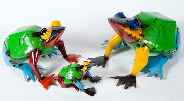 Bright Colorful Frogs Set of 3