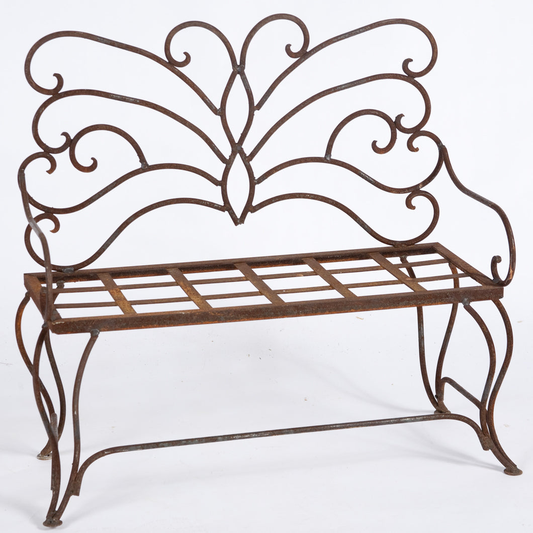 Child's Forged Butterfly Bench