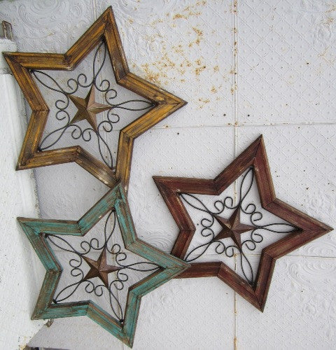 Cleated Wood & Metal Star
