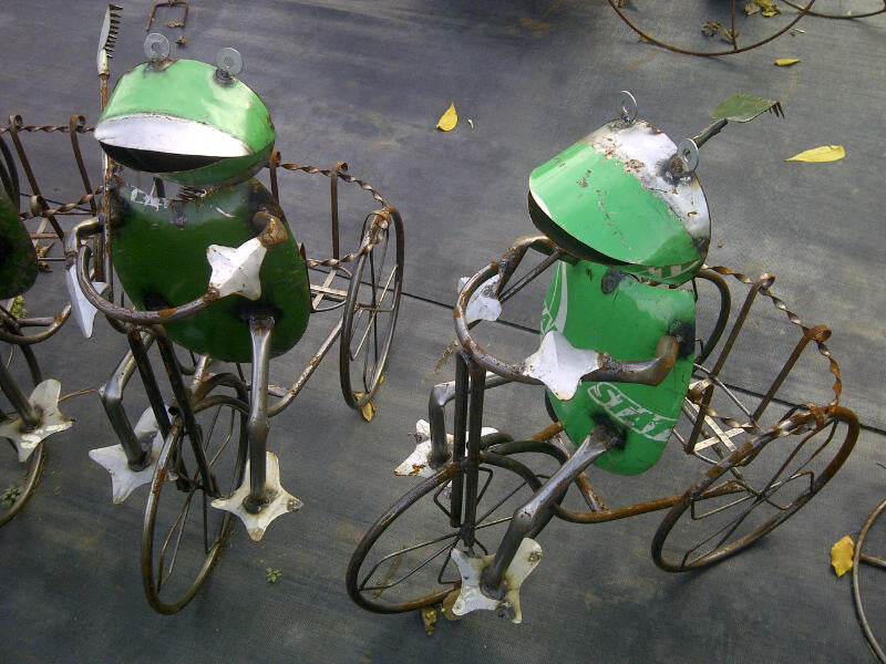 Frog on Basket Trike