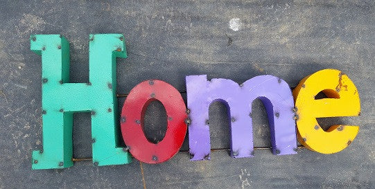 Colorful Home Sign