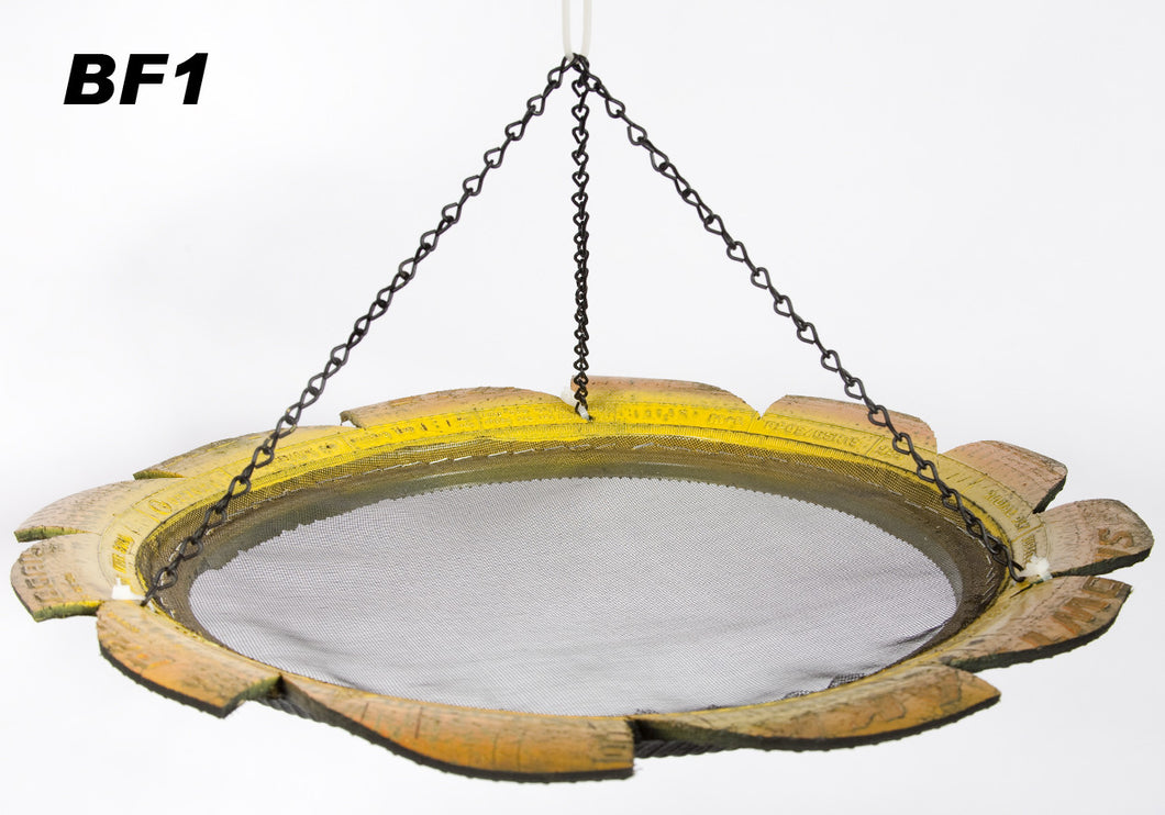 Re-Used Tire Hanging Bird Feeder w Hook