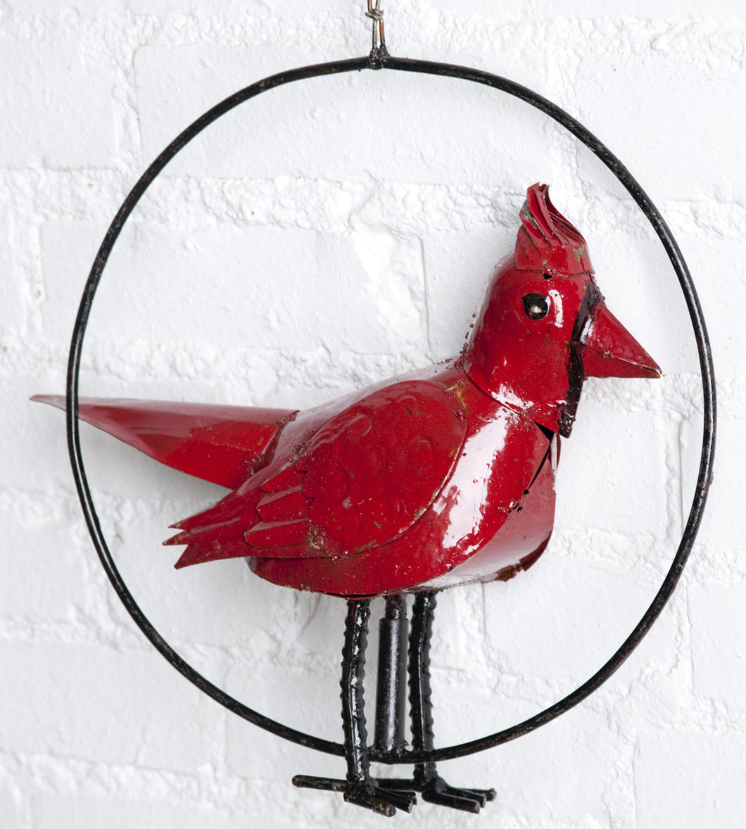 Hanging Red Cardinal Bird