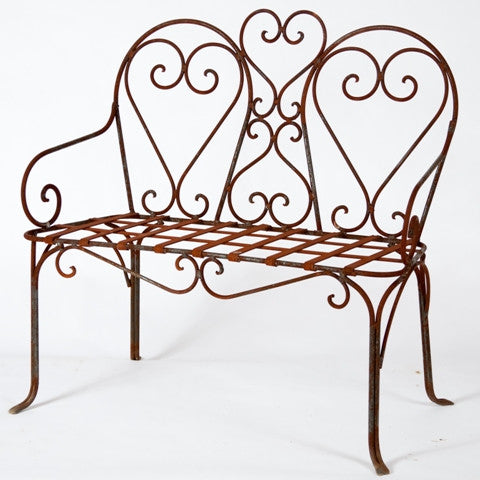 Heavy Forged Dbl Heart Bench