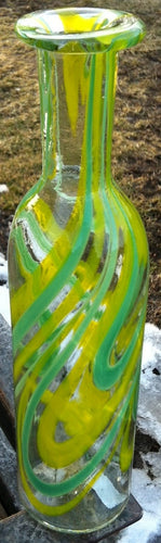 Light Hand Blown Bottle