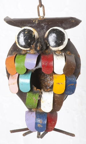 Colorful Owl Birdhouse