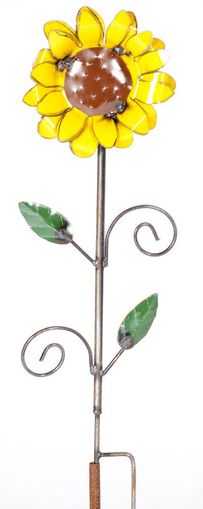 Painted Sunflower on Stake