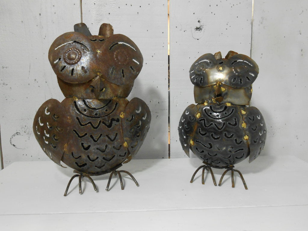 Pair Plasma Cut Owl