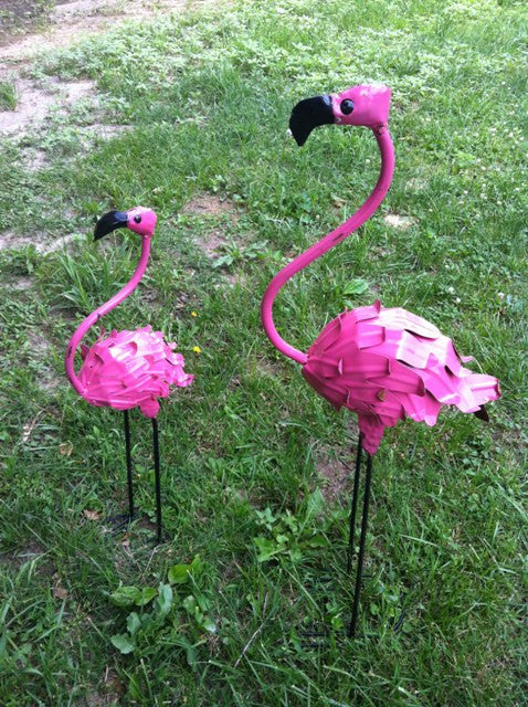 Set of 2 Flamingo with Feathers