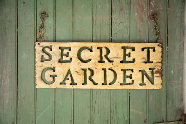 Secret Garden Hanging Sign