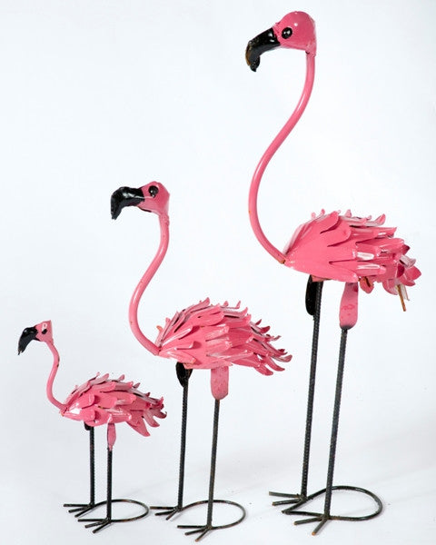 Set of 3 Smaller Size Flamingos