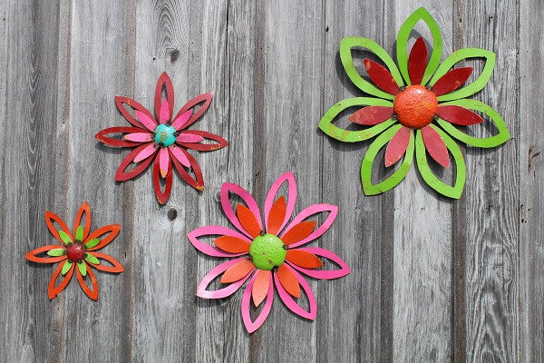 Set of 4 Colorful Flowers
