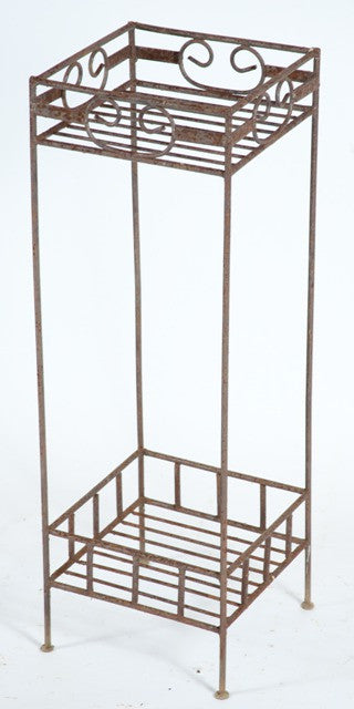 square 2 shelf stand