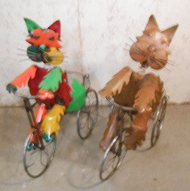 Cat Riding Trike with Basket