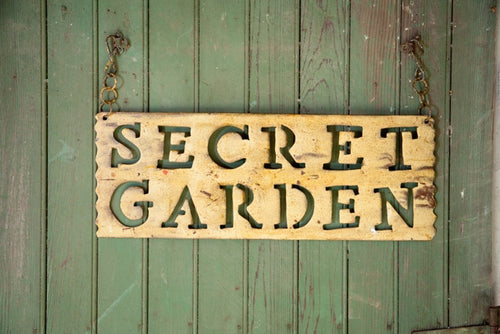 secret garden signs, signs & letters & numbers – garden iron and more, Design ideen
