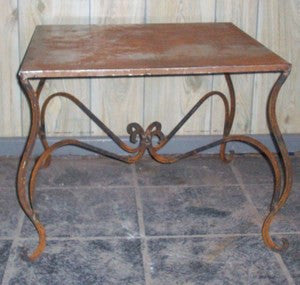 SIDE TABLE 2FT X 2FT WITH TIN TOP