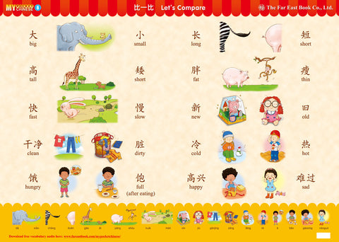 My Pocket Chinese Poster (6) Let's Compare (Simplified Character Version)