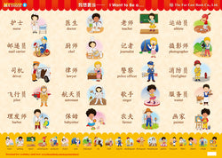 My Pocket Chinese Poster (8) I Want to Be a.... (Simplified Character Version)