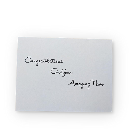 Congratulations on your Amazing News Greeting Card