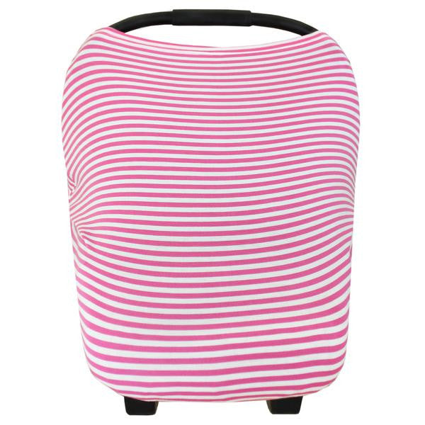 pink and white candy striped car seat cover by Copper Pearl