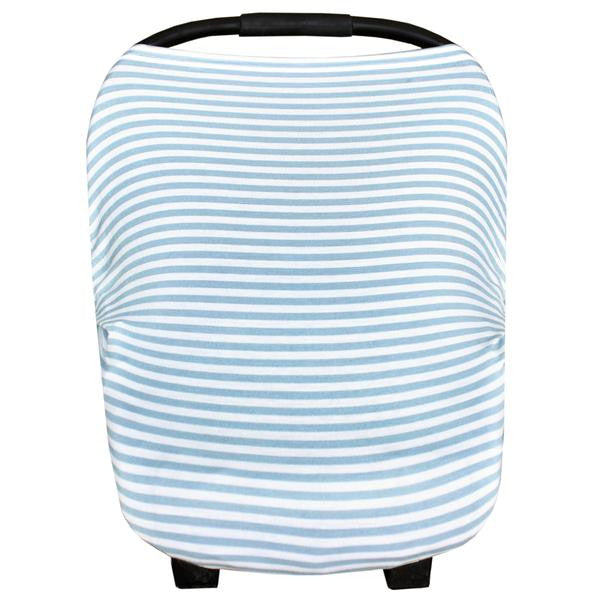blue and white striped cotton car seat cover for new baby boy gift