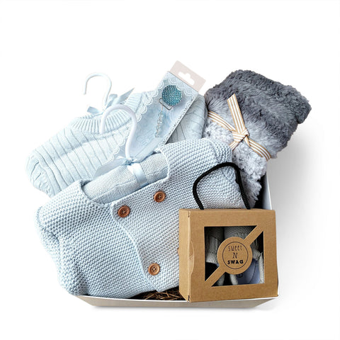 Luxury Baby Boy Gift Basket - Corporate Baby Gift