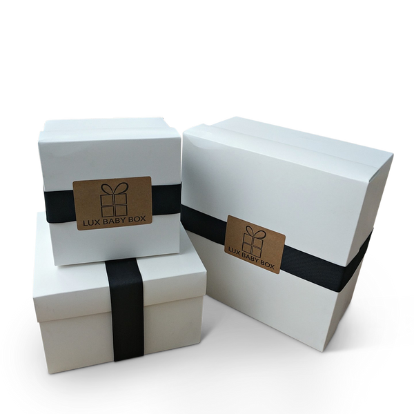 Presentation-ready baby gift boxes