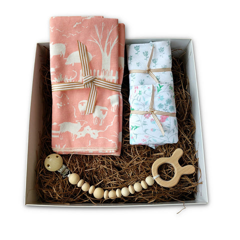 Sweet  baby girl gift box set for new baby girl or baby shower gift