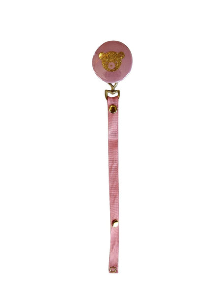 pink pacifier clip for new baby girl - perfect baby gift!