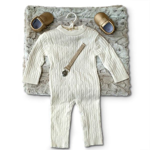 ivory and gold luxury new baby gift set