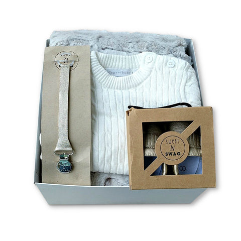 Curated baby gift set for corporate baby gift or baby shower present