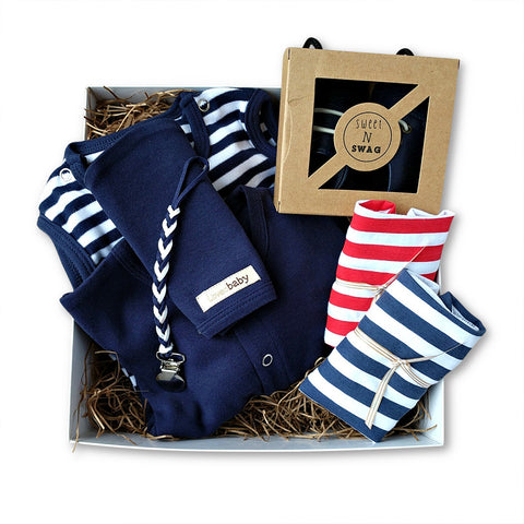 Nautical Baby Boy Gift Box Set
