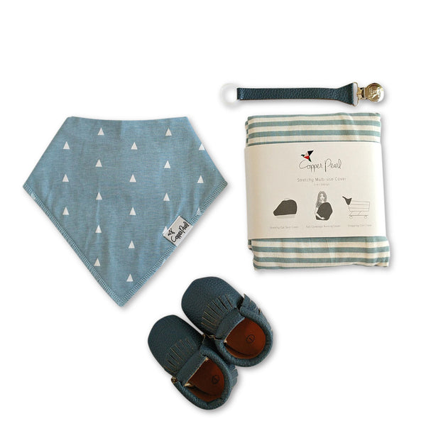 Welcome Baby Boy gift set for corporate group giving, baby shower gifts and new baby presents