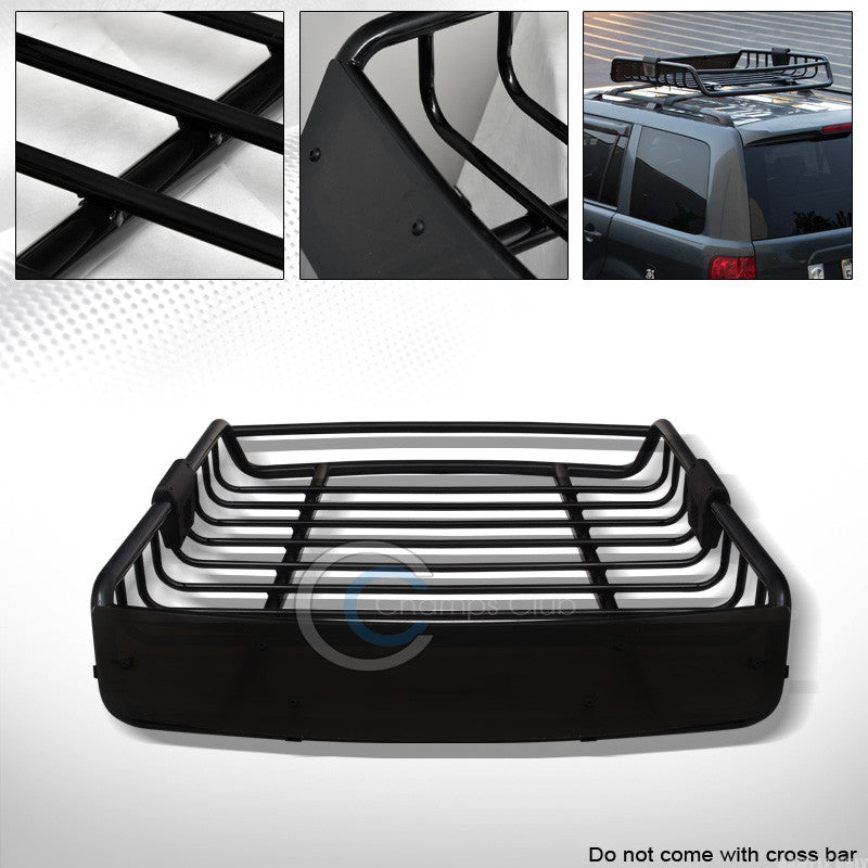 "/""DEFECTIVE/"" 50/"" ALUMINUM OVAL WINDOW FRAME ROOF RACK CROSS BARS CARRIER BLACK"