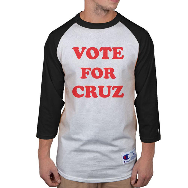 Election 2016 Ted Vote for Cruz Pedro Mens Raglan T Shirt
