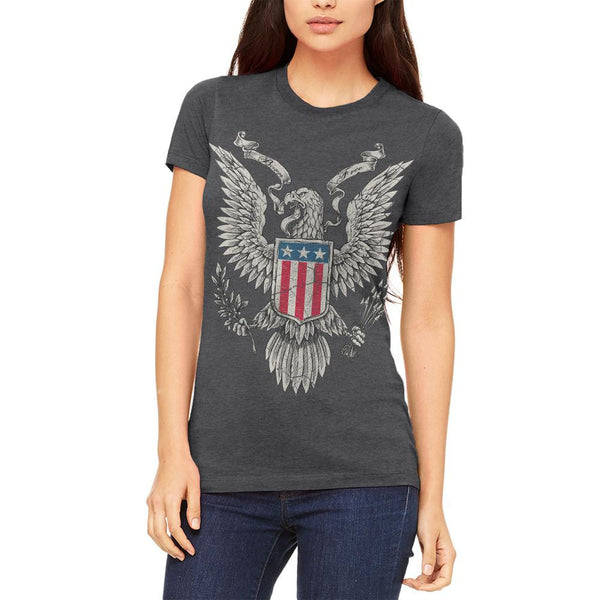 4th of July Born Free Distressed Vintage Eagle Juniors Soft T Shirt