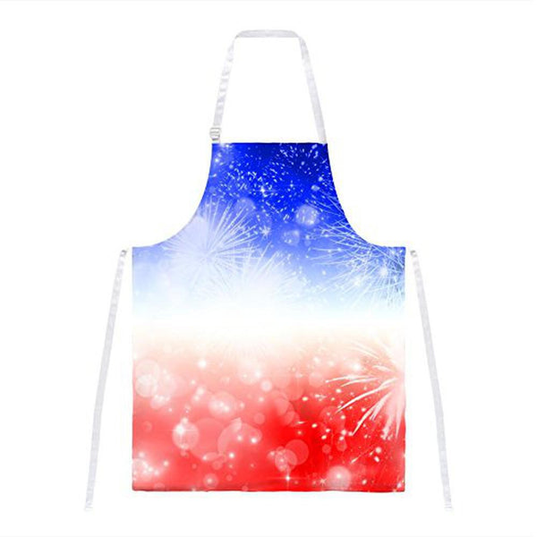 4th of July American Fireworks All Over Apron