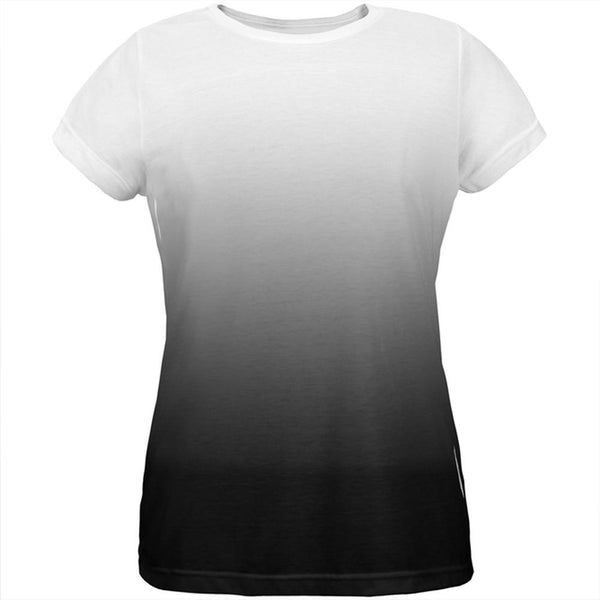 Fade to Black All Over Womens T Shirt