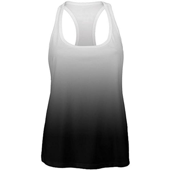 Fade to Black All Over Womens Work Out Tank Top
