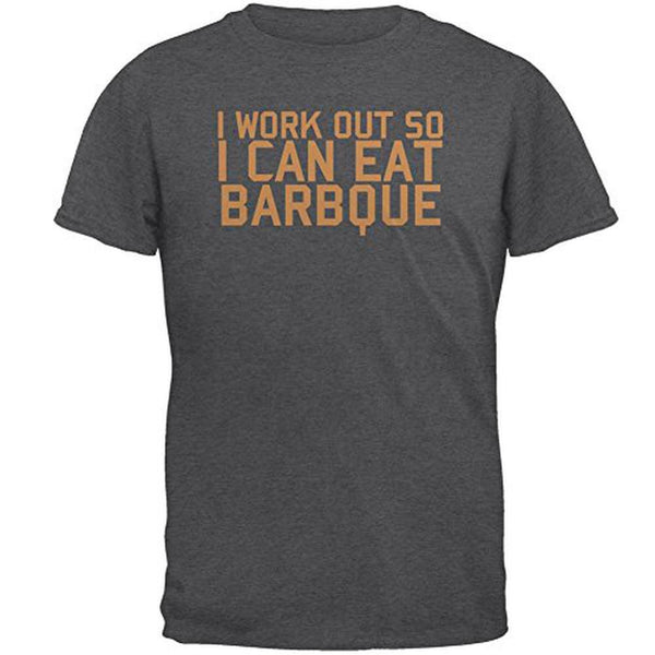 Work Out Eat Barbque Mens T Shirt