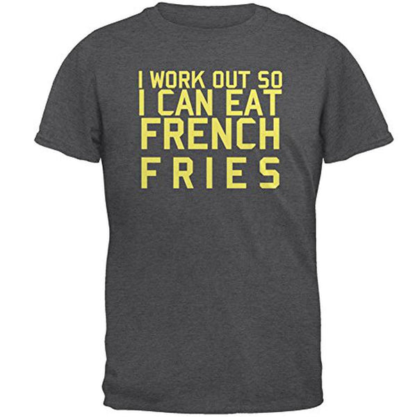 Work Out Eat French Fries Mens T Shirt