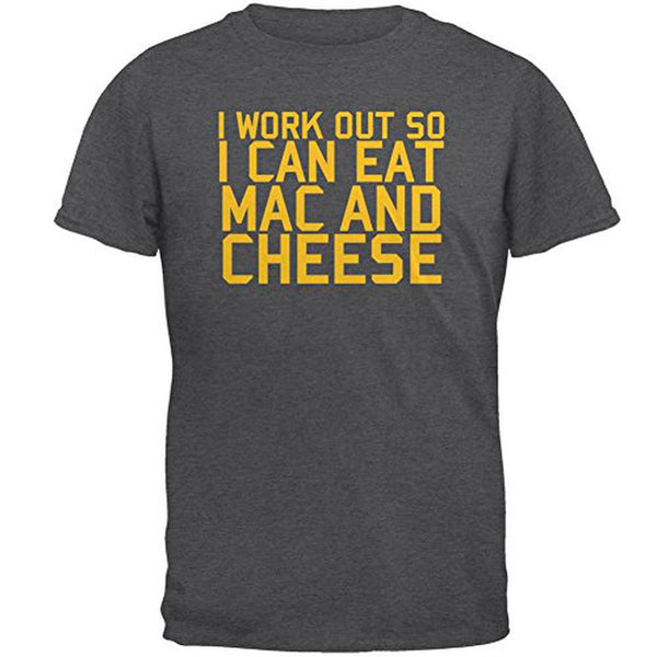 Work Out Eat Mac and Cheese Mens T Shirt